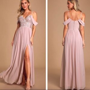 Lulus Dancing Darling Dusty Lavender Maxi Dress